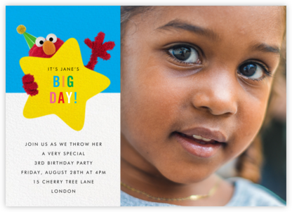 Hey, Elmo Photo - Sesame Street - Online Kids' Birthday Invitations