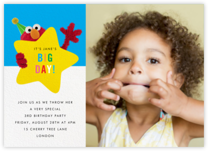 Hey, Elmo Photo - Sesame Street - Invitations