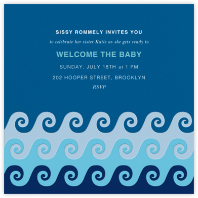 Tide Pool - Jonathan Adler - Baby Shower Invitations