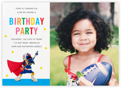 Super Grover Photo - Sesame Street - Kids' birthday invitations