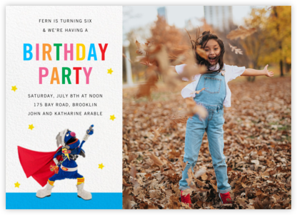 Super Grover Photo - Sesame Street - Online Kids' Birthday Invitations