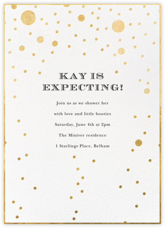 Champagne Bubbles (Single-Sided) - kate spade new york - Baby Shower Invitations