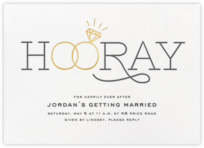 With this Ring - Gold - Cheree Berry - Bridal shower invitations