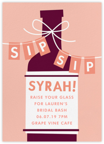 Sip, Sip, Syrah - Cheree Berry - Bridal shower invitations