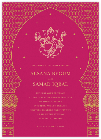 Wedding invitations online at paperless post vinayanka invitation filmwisefo Image collections
