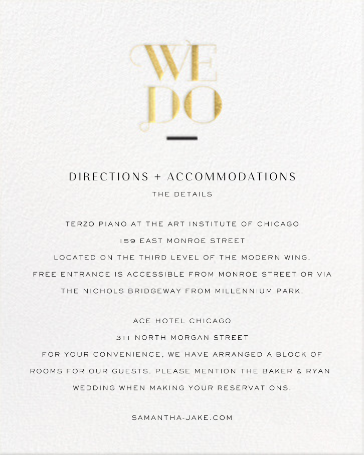 The Royal We (Invitation) - Gold - bluepoolroad - Classic  - insert front