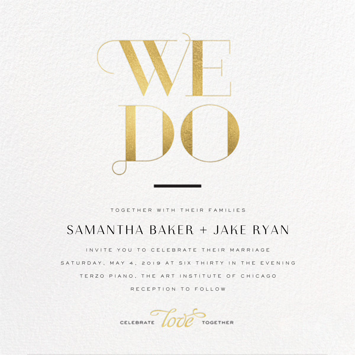 The Royal We (Invitation) - Gold - bluepoolroad - Wedding invitations