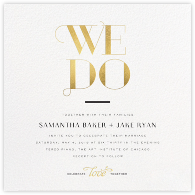 The Royal We (Invitation) - Gold - bluepoolroad - bluepoolroad invitations and cards