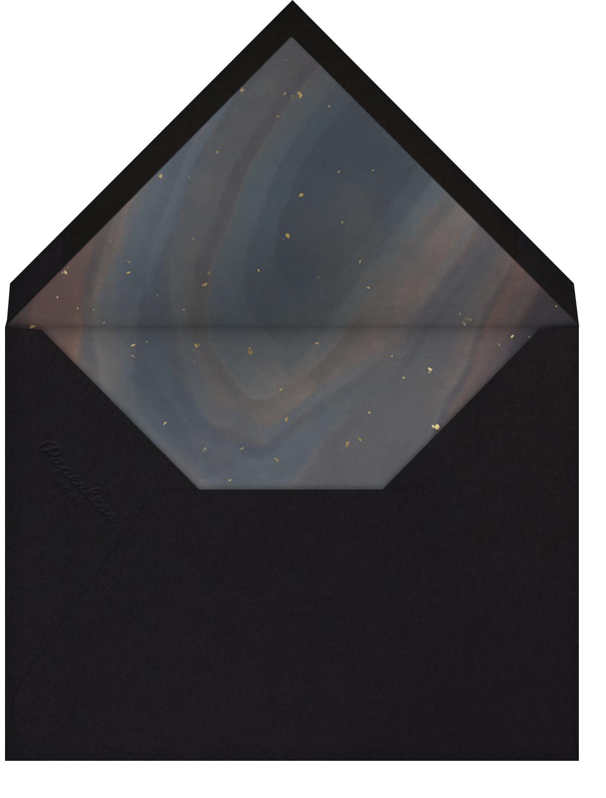 Intarsia - Paperless Post - Rehearsal dinner - envelope back