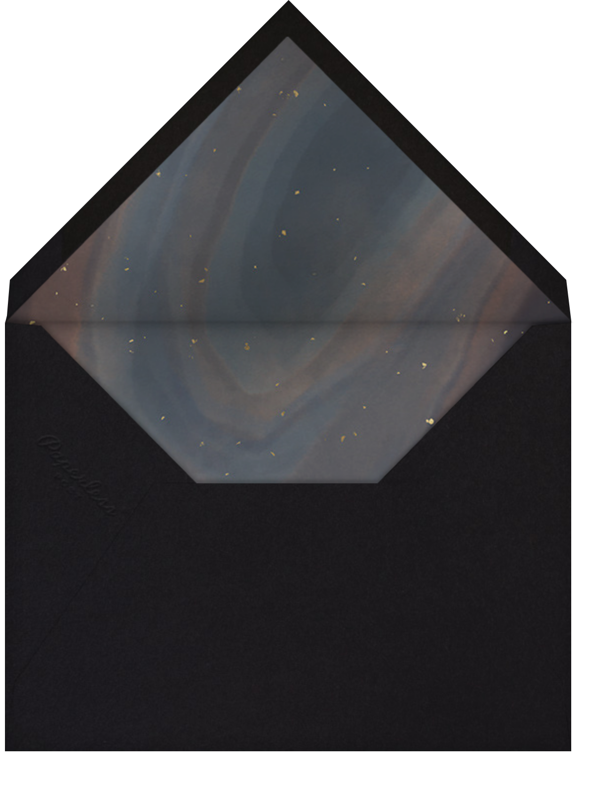Intarsia - Paperless Post - Bat and bar mitzvah - envelope back
