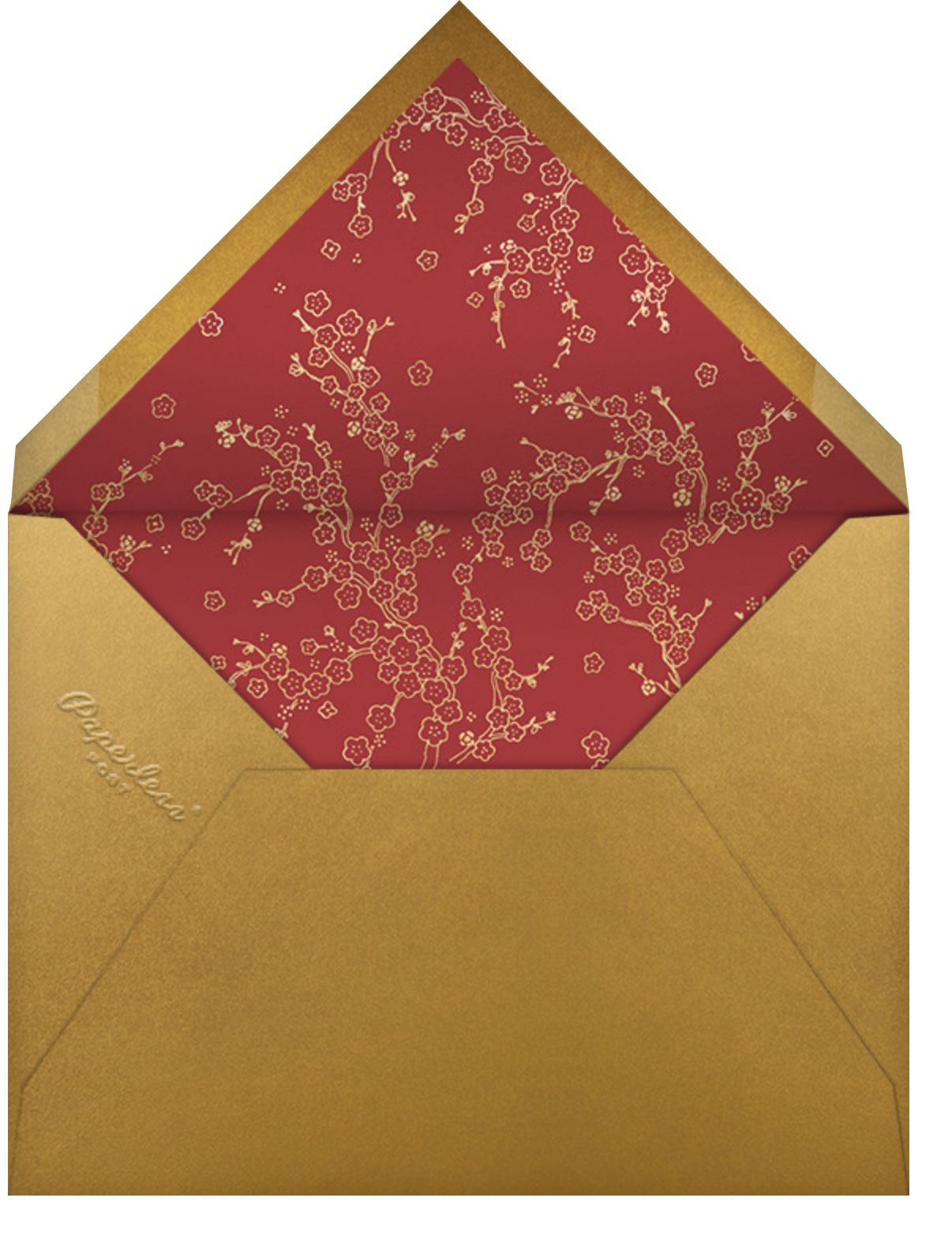 Hongbao - Paperless Post - Lunar New Year - envelope back