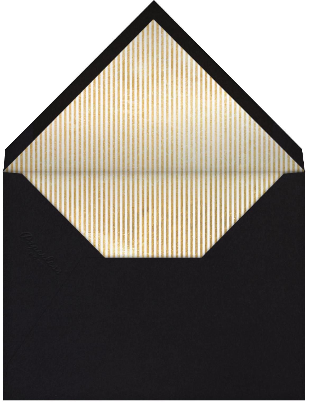 Reese (Photo) - Black/Gold - Sugar Paper - Graduation party - envelope back