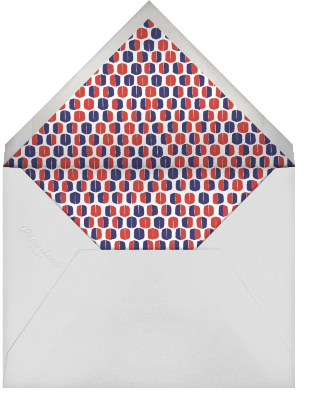 Mrs. Robinson - Tomato - Mr. Boddington's Studio - Graduation party - envelope back