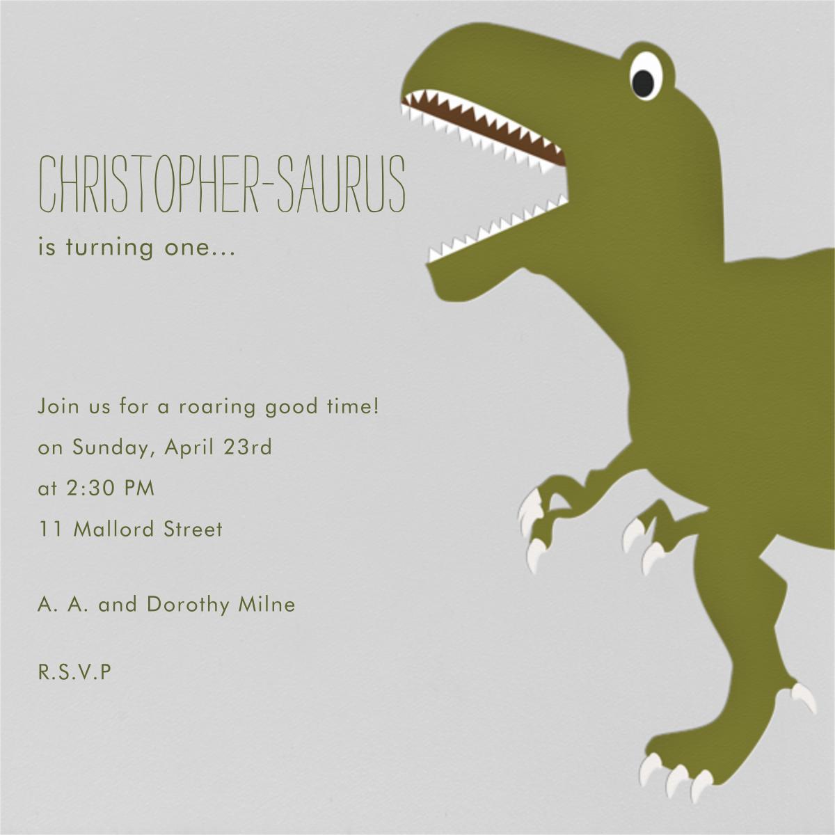 T-Rex - Paperless Post - Invitations