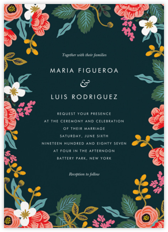 Birch Monarch Suite (Invitation) - Spruce - Rifle Paper Co. - Wedding Invitations