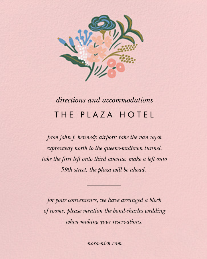 Floral Tapestry (Invitation) - Pavlova - Rifle Paper Co. - All - insert front