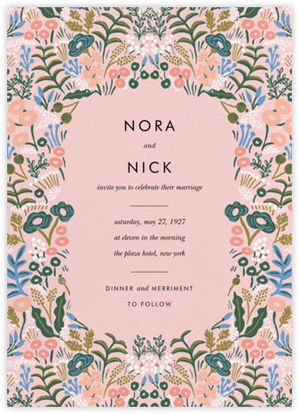 Floral Tapestry (Invitation) - Pavlova - Rifle Paper Co. - Rifle Paper Co. Wedding