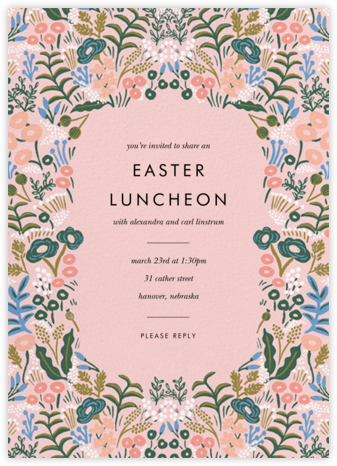 Floral Tapestry - Pavlova - Rifle Paper Co. - Easter Invitations