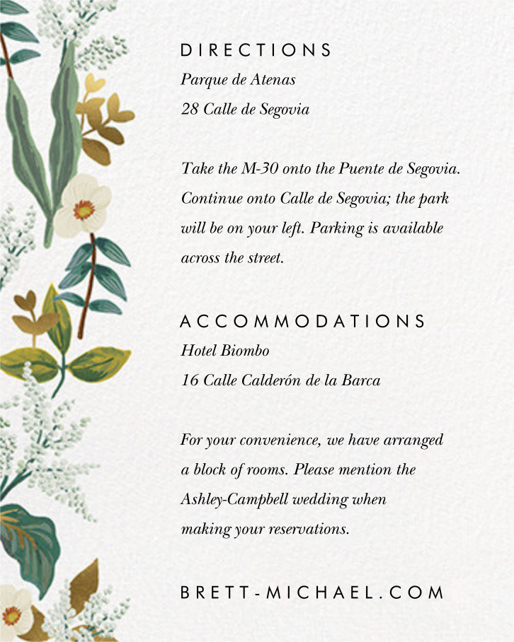 Meadow Garland (Invitation) - Rifle Paper Co. - All - insert front