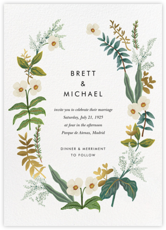 Meadow Garland (Invitation) - Rifle Paper Co. -