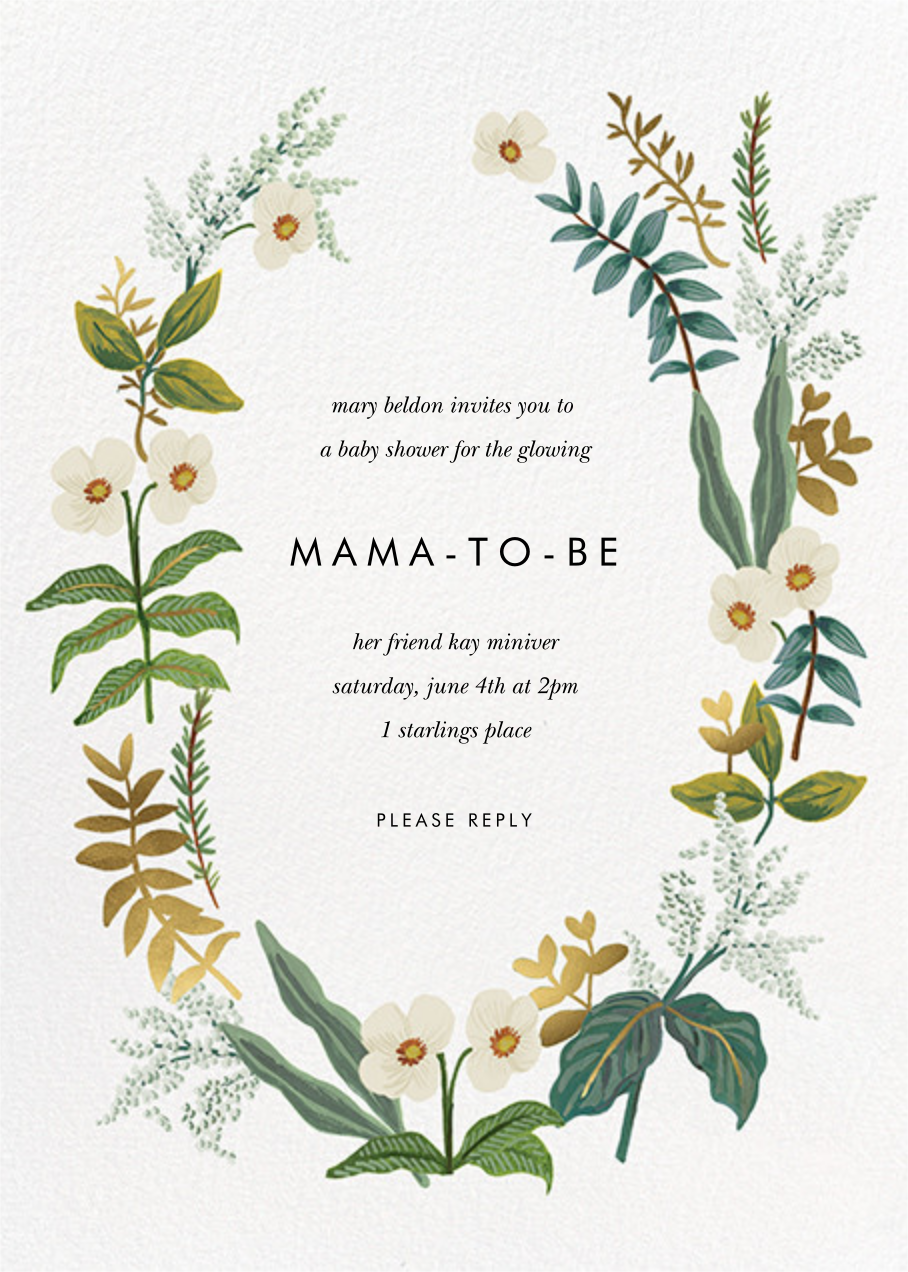 Meadow Garland - Rifle Paper Co. - Celebration invitations