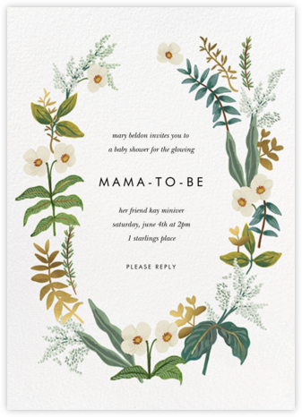 Meadow Garland - Rifle Paper Co. - Online Baby Shower Invitations