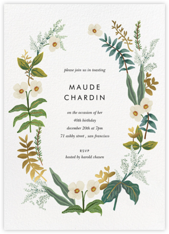 Meadow Garland - Rifle Paper Co. - Adult birthday invitations