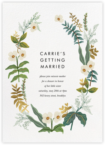 Meadow Garland - Rifle Paper Co. - Bridal shower invitations