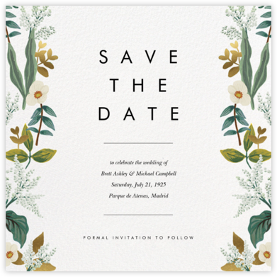 Meadow Garland (Square) - Rifle Paper Co. - Save the date cards and templates