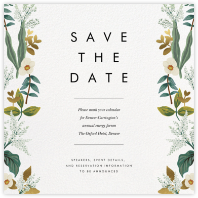 Meadow Garland (Square) - Rifle Paper Co. - Save the dates