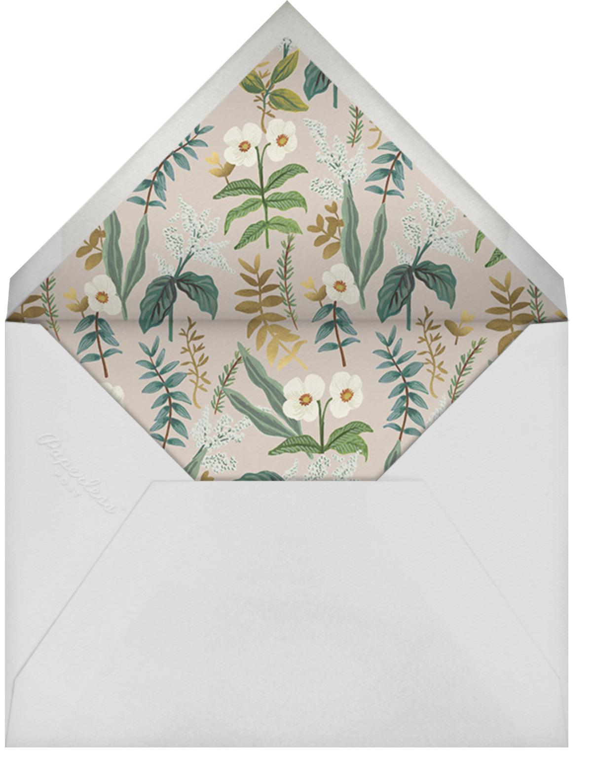 Meadow Garland (Square) - Rifle Paper Co. - Party save the dates - envelope back