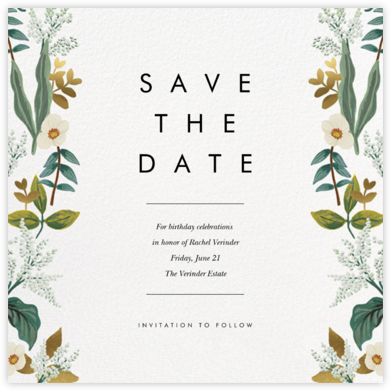 Meadow Garland (Square) - Rifle Paper Co. - Rifle Paper Co. Invitations