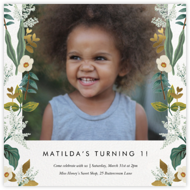 Meadow Garland Photo - Rifle Paper Co. - Online Kids' Birthday Invitations