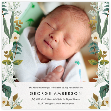 Meadow Garland Photo - Rifle Paper Co. - Christening Invitations