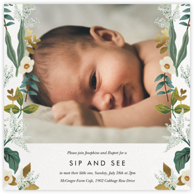 Meadow Garland Photo - Rifle Paper Co. - Baby Shower Invitations