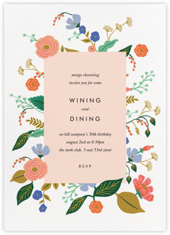 Pressed Wildflowers - Rifle Paper Co. - Adult Birthday Invitations