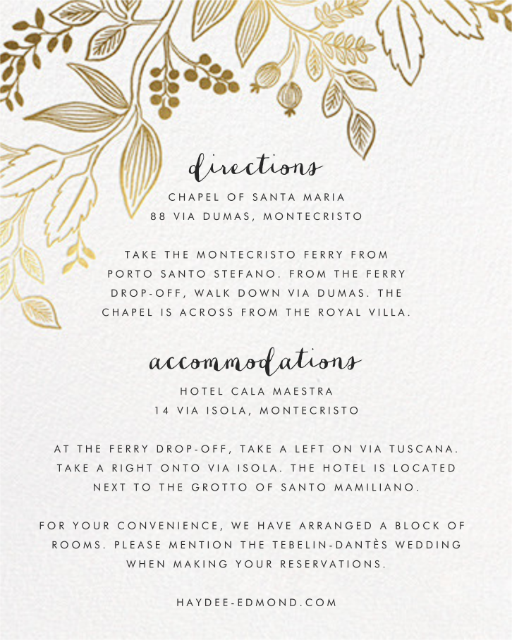 Queen Anne (Invitation) - Rifle Paper Co. - All - insert front