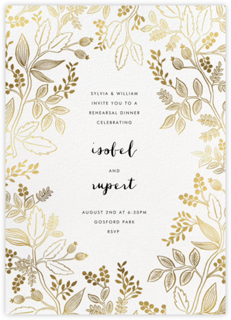 Queen Anne - Rifle Paper Co. - Wedding weekend