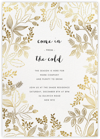 Queen Anne - Rifle Paper Co. - Winter entertaining invitations
