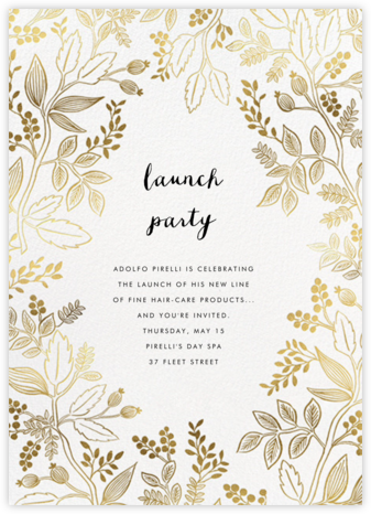 Queen Anne - Rifle Paper Co. - Launch Party Invitations