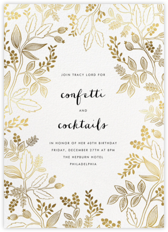 Queen Anne - Rifle Paper Co. - Milestone birthday invitations
