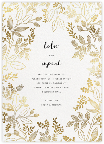 Queen Anne - Rifle Paper Co. - Engagement party invitations