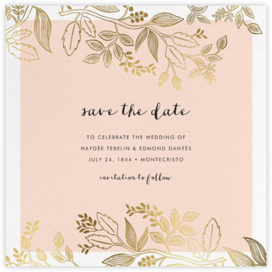Queen Anne (Square) - Rifle Paper Co. - Gold and metallic save the dates