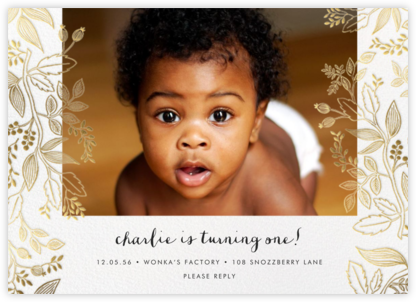 Queen Anne Photo (Horizontal) - Rifle Paper Co. - First Birthday Invitations