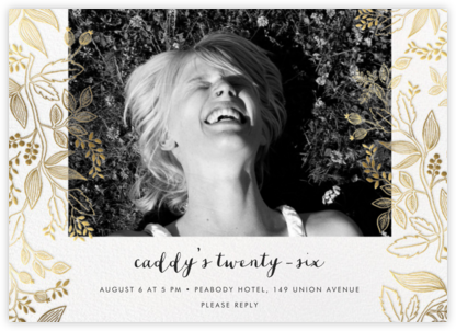 Queen Anne Photo (Horizontal) - Rifle Paper Co. - Adult Birthday Invitations