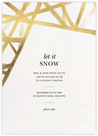 Channels - White/Gold - Kelly Wearstler - Winter Party Invitations