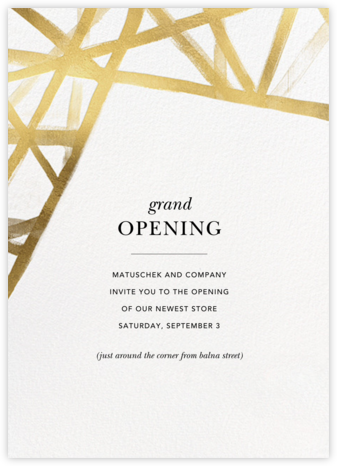 Channels - White/Gold - Kelly Wearstler - Launch Party Invitations