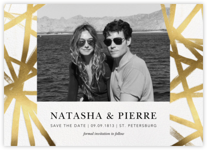 Channels Photo - White/Gold - Kelly Wearstler - Gold and metallic save the dates