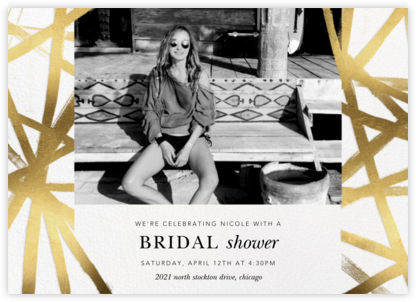 Channels Photo - White/Gold - Kelly Wearstler - Bridal shower invitations