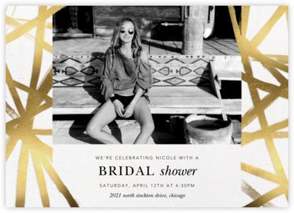 Channels Photo - White/Gold - Kelly Wearstler - Bridal shower invitations